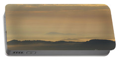 Sunrise In The Mountains - Hills In Morning Mist Portable Battery Charger by Michal Boubin