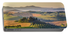 Sunrise In Tuscany Portable Battery Charger by JR Photography