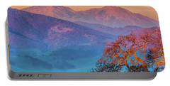 Sunrise Light On Mt. Diablo Portable Battery Charger by Marc Crumpler
