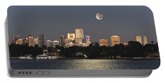 Moonrise Over Miami Portable Battery Charger