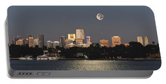 Sunrise Moon Over Miami Portable Battery Charger
