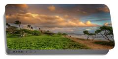 Sunrise Nukolii Beach Kauai Hawaii 7r2_dsc4068_01082018 Portable Battery Charger