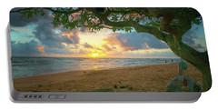 Sunrise Nukolii Beach Kauai Hawaii Photo Painting 7r2_dsc4497_01112018 Portable Battery Charger