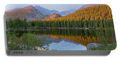 Sunrise On Bear Lake Rocky Mtns Portable Battery Charger by Teri Brown