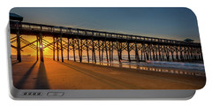 Portable Battery Charger featuring the photograph Sunrise On Folly Island by Rikk Flohr