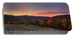 Portable Battery Charger featuring the photograph Sunrise On Jenne Farm - Vermont Autumn by Joann Vitali