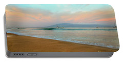 Sunrise On Ka'anapali Portable Battery Charger by Kelly Wade