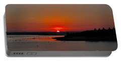 Sunrise On Lake Ray Hubbard Portable Battery Charger by Diana Mary Sharpton