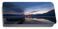 Portable Battery Charger featuring the photograph Sunrise On Mcdonald Lake by Lon Dittrick