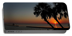 Portable Battery Charger featuring the photograph Sunrise On Pleasure Island by Judy Vincent