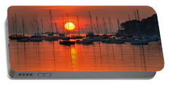 Sunrise On Salem Harbor Salem Ma Portable Battery Charger