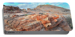 Sunrise On Sandstone In Valley Of Fire Portable Battery Charger