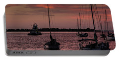 Sunrise On Sarasota Bay, Bradenton Beach Portable Battery Charger