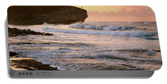 Sunrise On Shipwreck Beach Portable Battery Charger by Marie Hicks