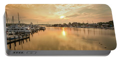Sunrise On Spa Creek Portable Battery Charger