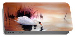 Sunrise On Swan Lake Portable Battery Charger