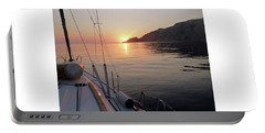 Portable Battery Charger featuring the photograph Sunrise On The Aegean by Christin Brodie