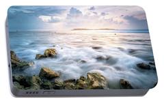 Sunrise On The Beach, Maldive Portable Battery Charger by Katesalin Pagkaihang