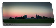 Sunrise On The Farm Portable Battery Charger by Kenneth Cole