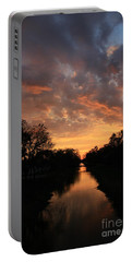 Sunrise On The Illinois Michigan Canal Portable Battery Charger