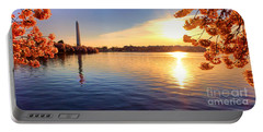 Sunrise On The Tidal Basin Portable Battery Charger