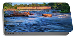 Portable Battery Charger featuring the photograph Sunrise On Watson Mill Bridge by Doug Camara