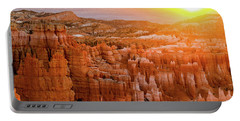 Sunrise Over Bryce Canyon Portable Battery Charger