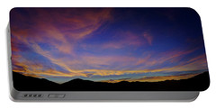 Sunrise Over Canyon Hills Portable Battery Charger