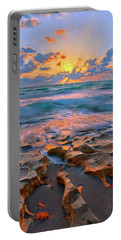 Portable Battery Charger featuring the photograph Sunrise Over Carlin Park In Jupiter Florida by Justin Kelefas