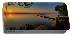 Sunrise Over Cayuga Lake Portable Battery Charger