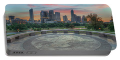 Sunrise Over Downtown Austin, Texas 3 Portable Battery Charger by Rob Greebon