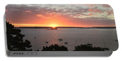 Sunrise Over Fort  Gorges Casco Bay Portland Maine Portable Battery Charger by Patricia E Sundik