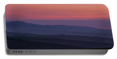 Portable Battery Charger featuring the photograph Sunrise Over Hills Of Moravian Tuscany by Jenny Rainbow