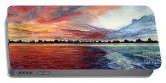 Sunrise Over Indian Lake Portable Battery Charger by Nancy Cupp