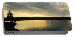Sunrise Over Lake Washington Portable Battery Charger