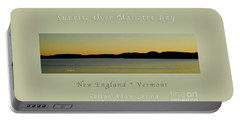 Sunrise Over Malletts Bay Greeting Card And Poster - Six V4 Portable Battery Charger