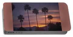 Sunrise Over Mountains Palm Desert Portable Battery Charger