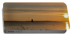 Sunrise Over New Bedford Portable Battery Charger