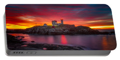 Sunrise Over Nubble Light Portable Battery Charger