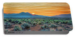 Sunrise Over Taos Portable Battery Charger