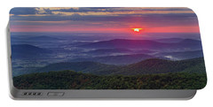 Portable Battery Charger featuring the photograph Sunrise Over The Blue Ridge by Lori Coleman