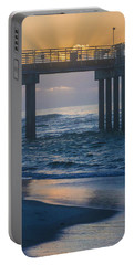 Sunrise Over The Pier Portable Battery Charger