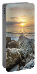 Sunrise Over The Rocks  Portable Battery Charger