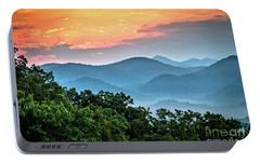 Portable Battery Charger featuring the photograph Sunrise Over The Smoky's by Douglas Stucky