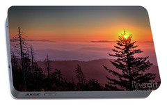 Portable Battery Charger featuring the photograph Sunrise Over The Smoky's IIi by Douglas Stucky