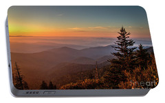 Portable Battery Charger featuring the photograph Sunrise Over The Smoky's V by Douglas Stucky