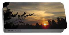Sunrise Over The Trees Portable Battery Charger