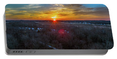 Sunrise Over The Woods Portable Battery Charger
