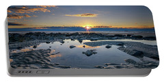 Portable Battery Charger featuring the photograph Sunrise Over Wells Beach by Rick Berk