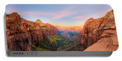 Sunrise Over Zion Canyon - Fall Portable Battery Charger